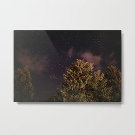 Tree top with stars | Colourful Travel Photography | Schwarzwald, Germany (Europe) Metal Print