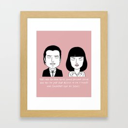 V and M Framed Art Print