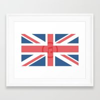 england Framed Art Prints featuring  England by XKbeth