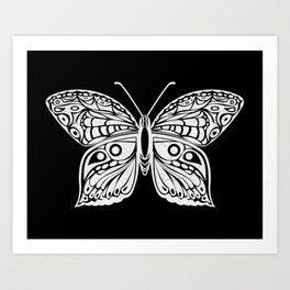 white butterfly Art Print