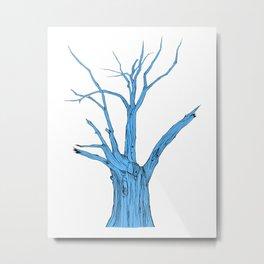 Old Blue Tree Metal Print