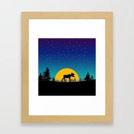Moose Moon Framed Art Print