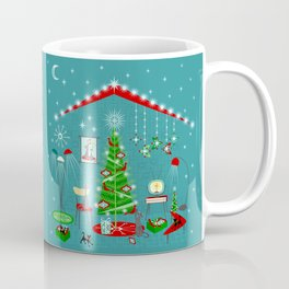 Retro Holiday Decorating iii Coffee Mug