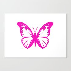 Hot Pink Butterfly  Canvas Print