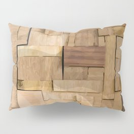 Wood bas-relief Pillow Sham