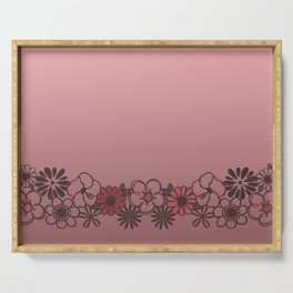 Kitschy Flower Medley Pink Serving Tray