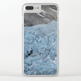 Blue Ice Glacier range in Norway - Landscape Photography Clear iPhone Case