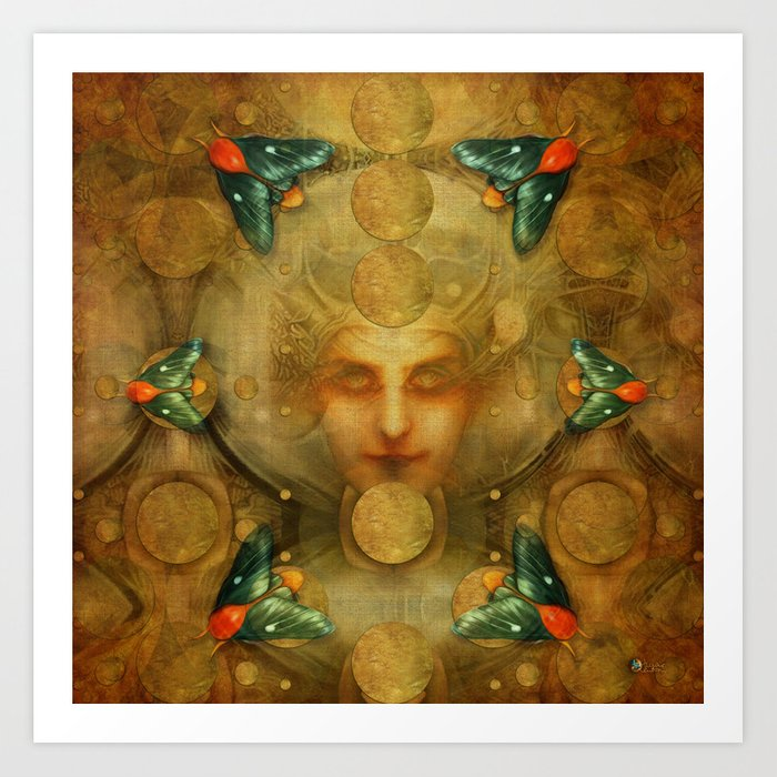 """Art Deco II The Chimera (Moth)"" Art Print"