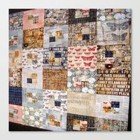 quilt Canvas Prints featuring Quilt by Shenreice
