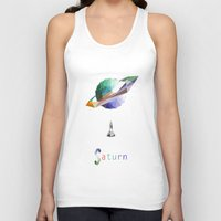saturn Tank Tops featuring Saturn by Tony Vazquez