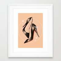 shoes Framed Art Prints featuring Shoes by ClaireBastian