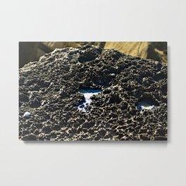 Natural Sea Salt On Coastal Rock Seaside Metal Print