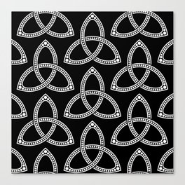 Little Black Trinity Knot Canvas Print