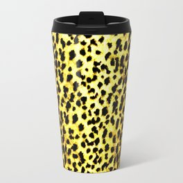 Leopard Print Animal Wallpaper Travel Mug