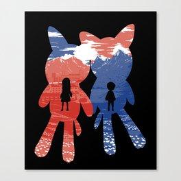 Ame and Yuki Canvas Print
