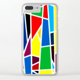 Geometric Shapes - bold and bright Clear iPhone Case