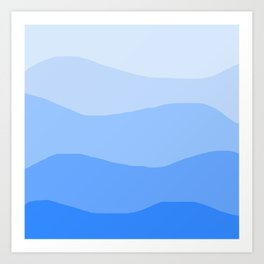 The Hills Have Spines - Blue Art Print