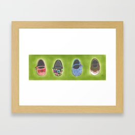 four sisters Framed Art Print