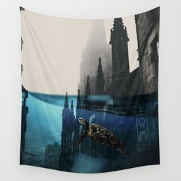 City under water Wall Tapestry