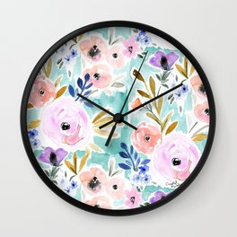 Willow Floral Wall Clock