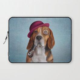 Drawing Dog Beagle Laptop Sleeve