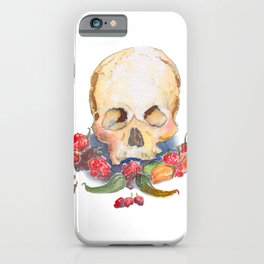 Skull and Peppers iPhone Case