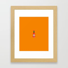 Hot Sauce Illustrated Pattern Framed Art Print