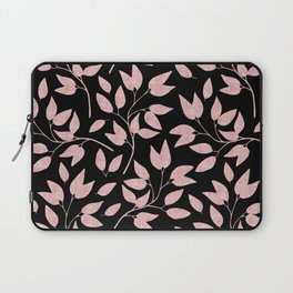 Elegant Rose Gold Leaves One Day or Day One, you decide typography Laptop Sleeve