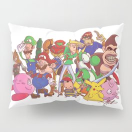 Super Smash Bros Pillow Sham