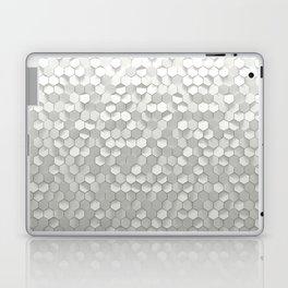 White hexagons Laptop & iPad Skin