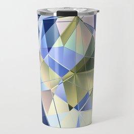 Pastel Fractal Abstract Geometric Print Travel Mug