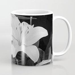 Contemporary Black White Lily Flower Floral Art A116 Coffee Mug