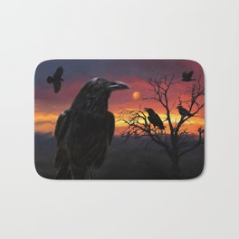 Raven Sunset Bath Mat