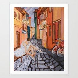 Ballerina in Venice .... Art Print