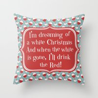 xmas Throw Pillows featuring xmas  by blacksparrow