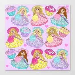 Candy Sprinkles Crew Canvas Print