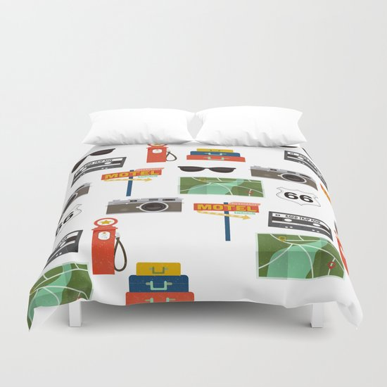 Travel Collage Duvet Cover