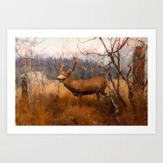 Field Deer Art Print