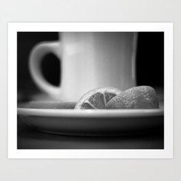 Lemon Tea Art Print