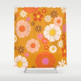 Groovy Mod 60's Flower Power Shower Curtain
