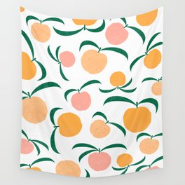 Peach Me Wall Tapestry