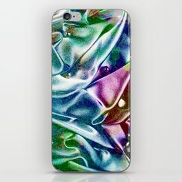 Holographic Narwhal Bright iPhone Skin