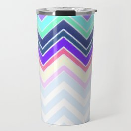 Pastel Chevron Pattern Travel Mug