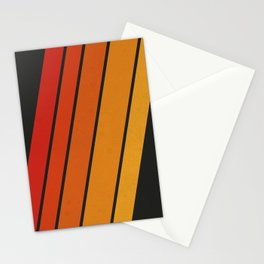 Retro 70s Stripes Stationery Cards