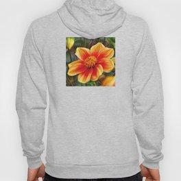 Orange Flower, DeepDream style Hoody