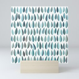 Mid-Century Modern Leaf pattern Collection 3 Mini Art Print