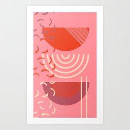 red moons Art Print