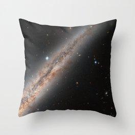 Spiral Galaxy NGC 891 Throw Pillow
