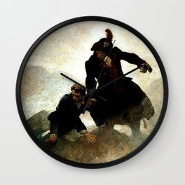 """Kidnapped"" Painting by NC Wyeth Wall Clock"
