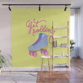 Get Rolling (Yellow Background) Wall Mural